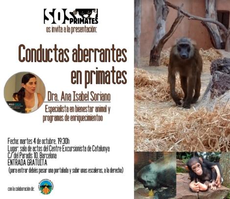 Conductas aberrantes en primates en cautividad